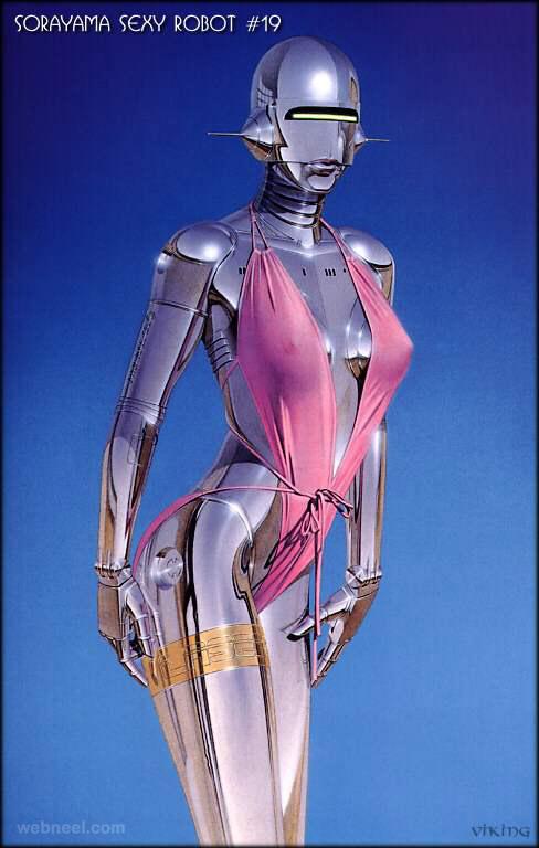 robot paintings by hajime sorayama