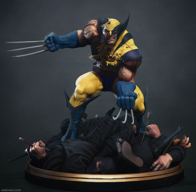 wolverine zbrush model by jemark