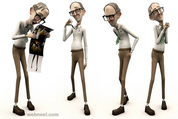 Character Design Man : D old man cartoon character by andrew