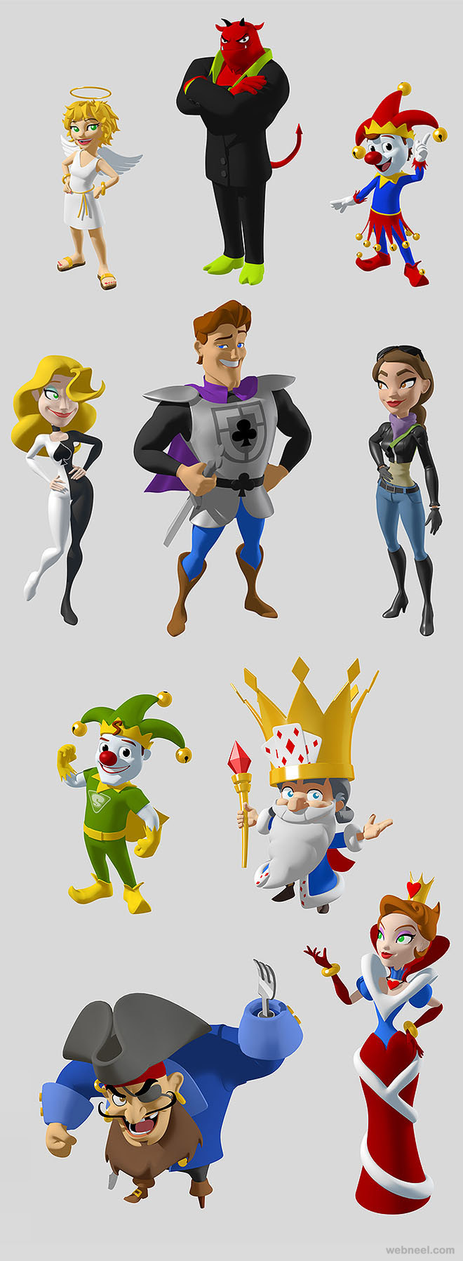 3d game cartoon character by andrew