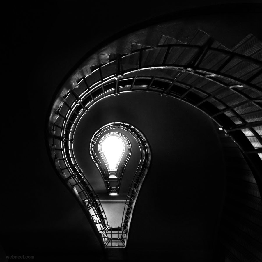 stairs by joni jarvinen bw photography