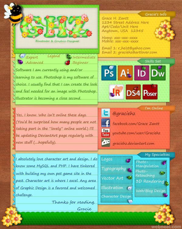 Very Colorful Resume Template 2016