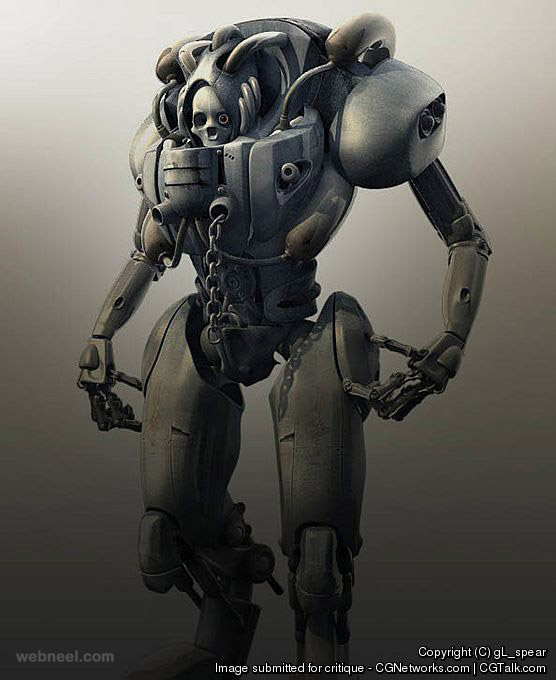 50 Stunning and Futuristic 3D Robot Character design ...