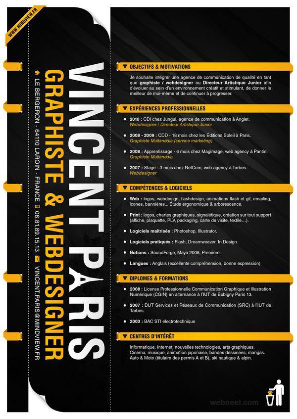 Graphic Resume Example