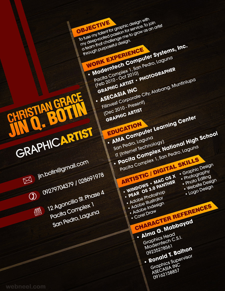 Graphic Artist Resume 2016  Best Creative Resumes