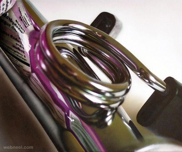 metal hyper realistic painting by tom martin