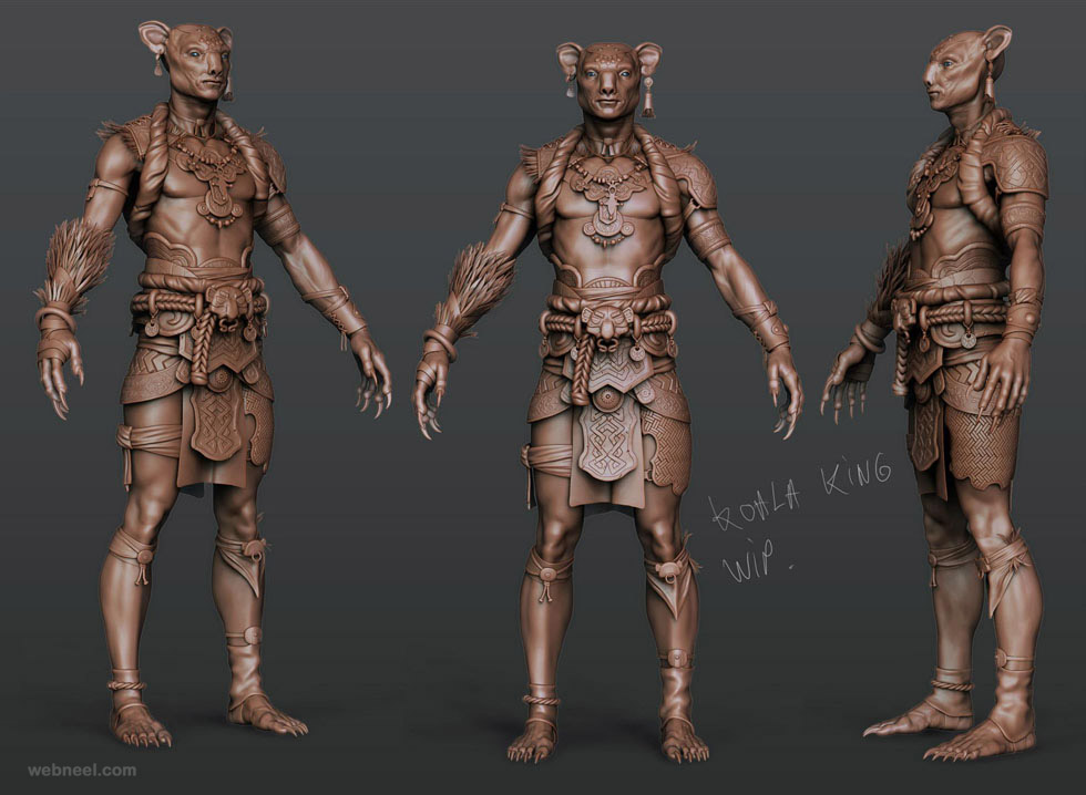 3d Character Design Competition : Zbrush model by rodrigue pralier preview