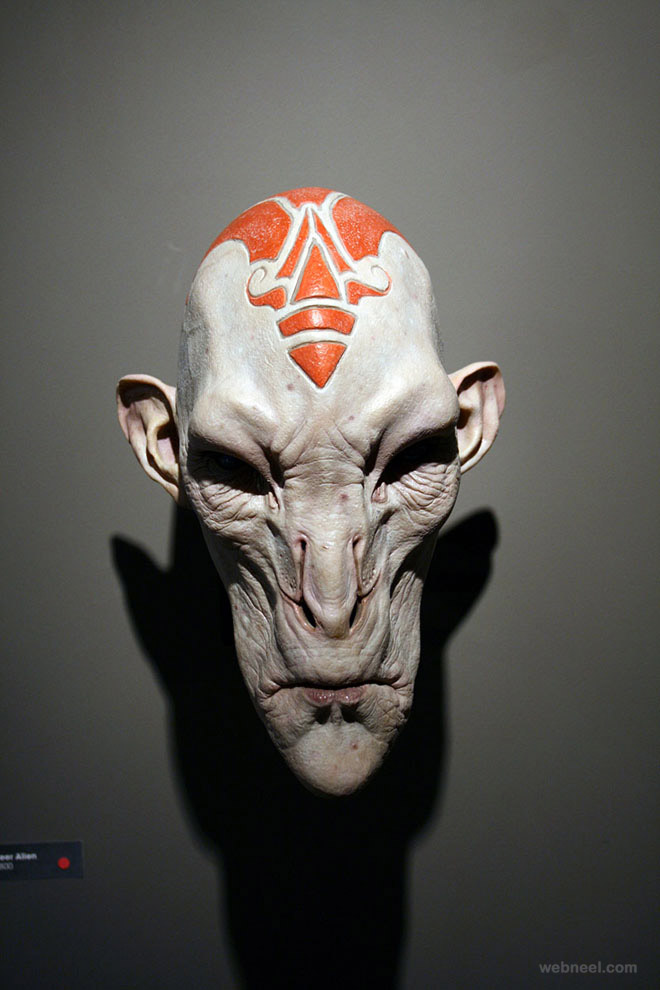 deer alien mask realistic sculpture