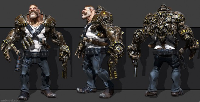 banniere game character zbrush by samuel