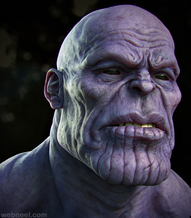 30 creative zbrush models and 3d sculpture designs for for Monster 3d model
