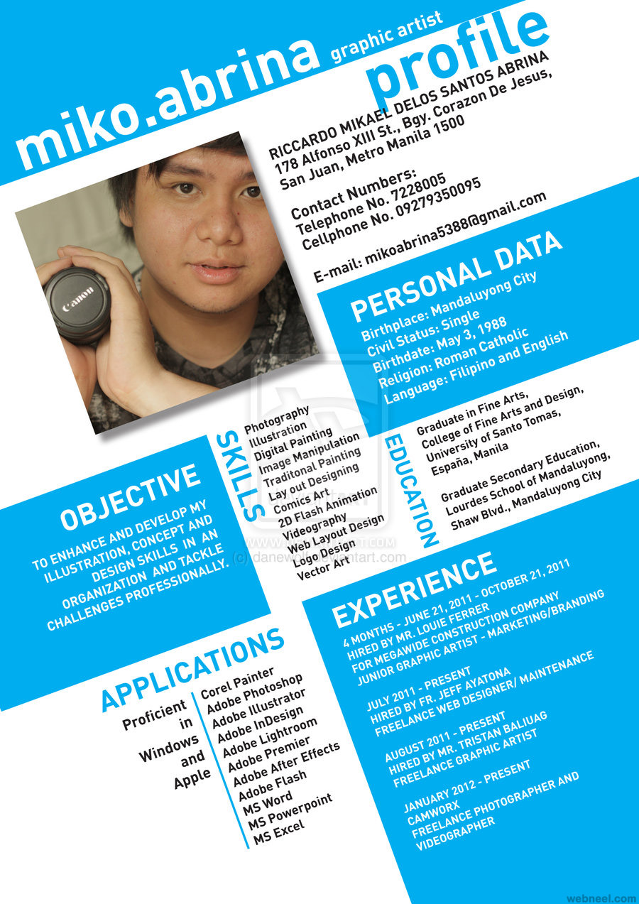 creative resume design 5