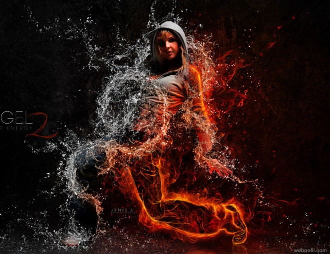 fire photo manipulation by bagus dony