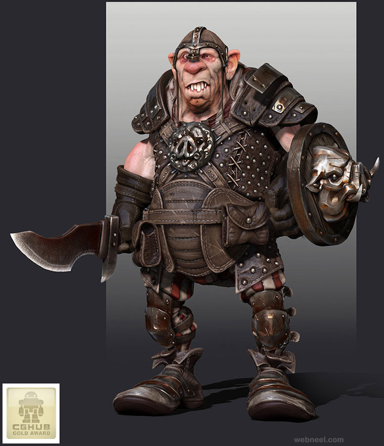 Character Design Zbrush : Ogre game character zbrush by samuel preview