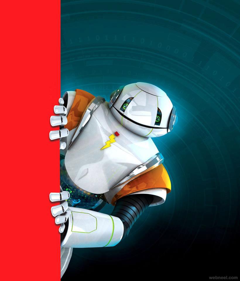 robot digital art
