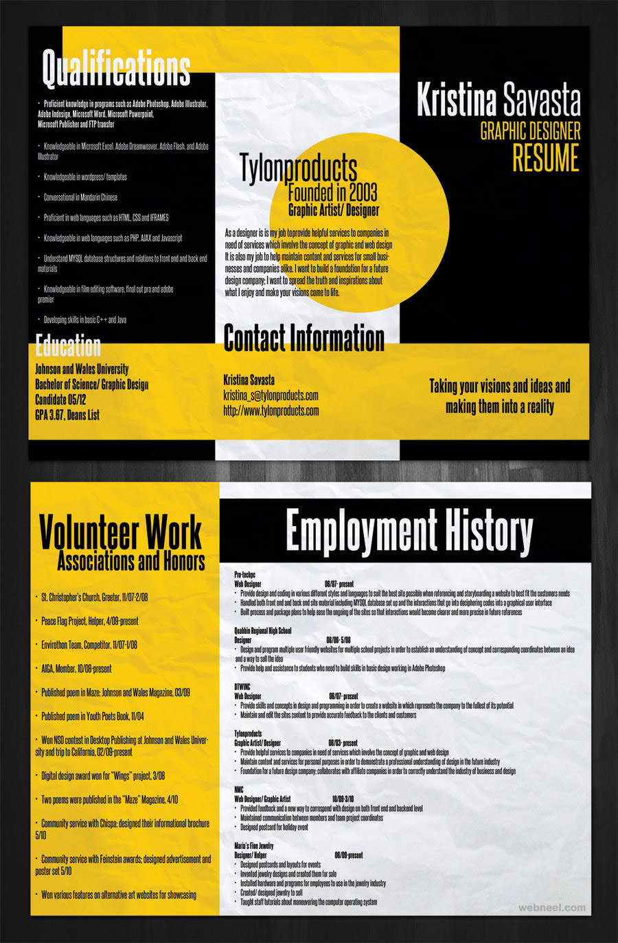 Graphic Designer Resume 2016