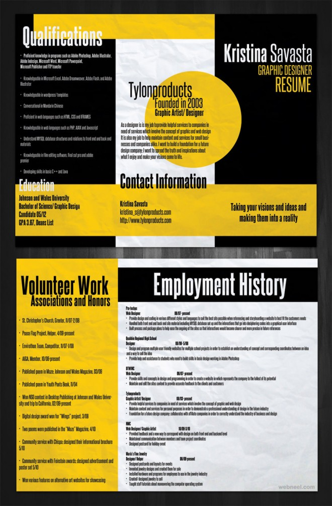 26 brilliant and colorful resume designs that will make