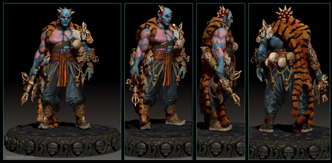 yama zbrush model by jemark 6   Back to ArticleZbrush Interface