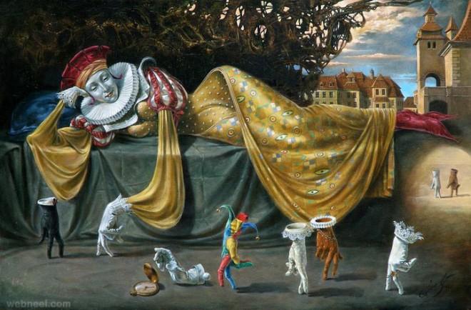 illusion surreal art painting