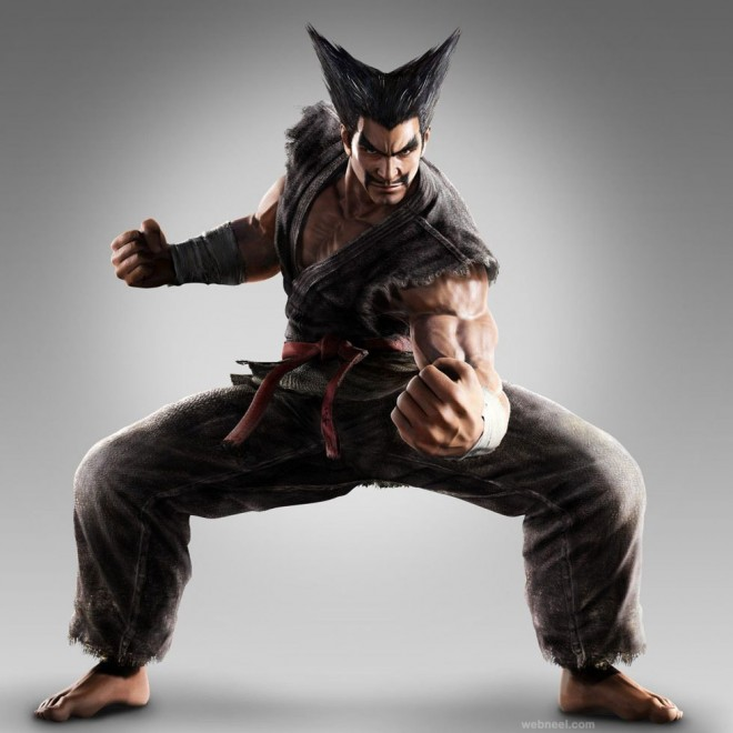 3dsmax game character warrior fighter