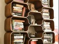 creative book shelf idea