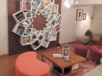 square and circle book shelf