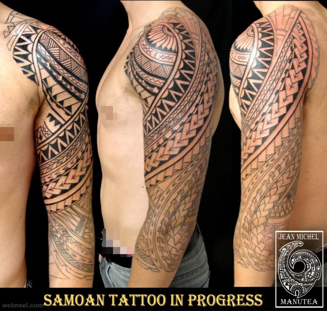 30 beautiful and creative tribal tattoos for men and women. Black Bedroom Furniture Sets. Home Design Ideas