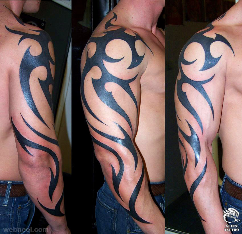 tribal shoulder tattoos 17 - Full Image