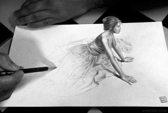 3D Drawings Pencil Art  - 3D Pencil Drawings