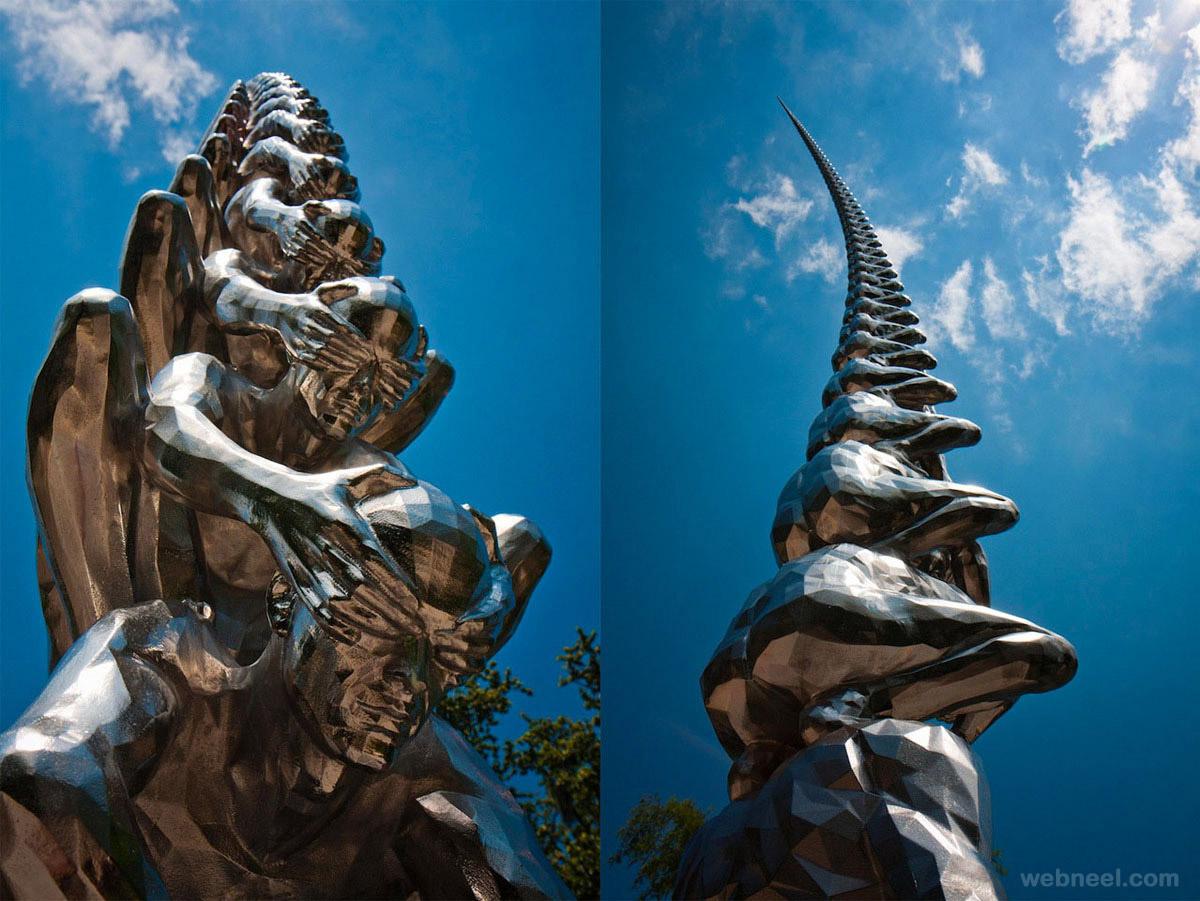 large garden sculptures karma