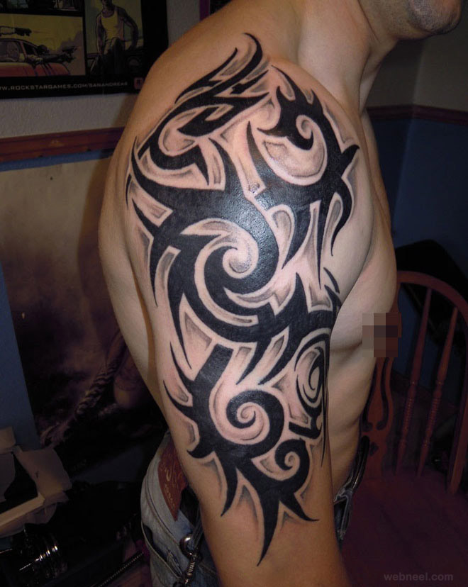 30 beautiful and creative tribal tattoos for men and women for Images of tribal tattoos