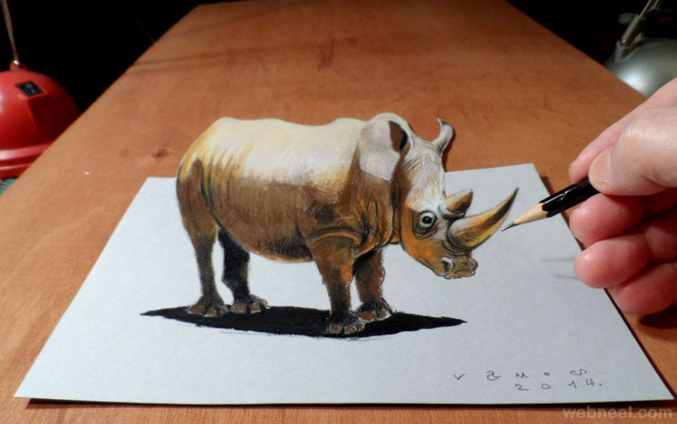 3d pencil drawings animals 3d drawings