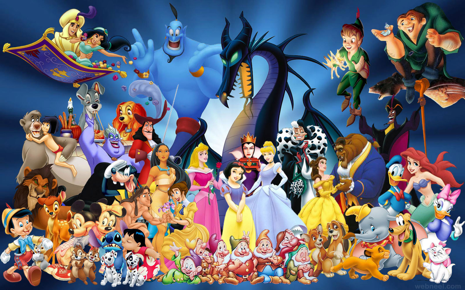 8 disney cartoons