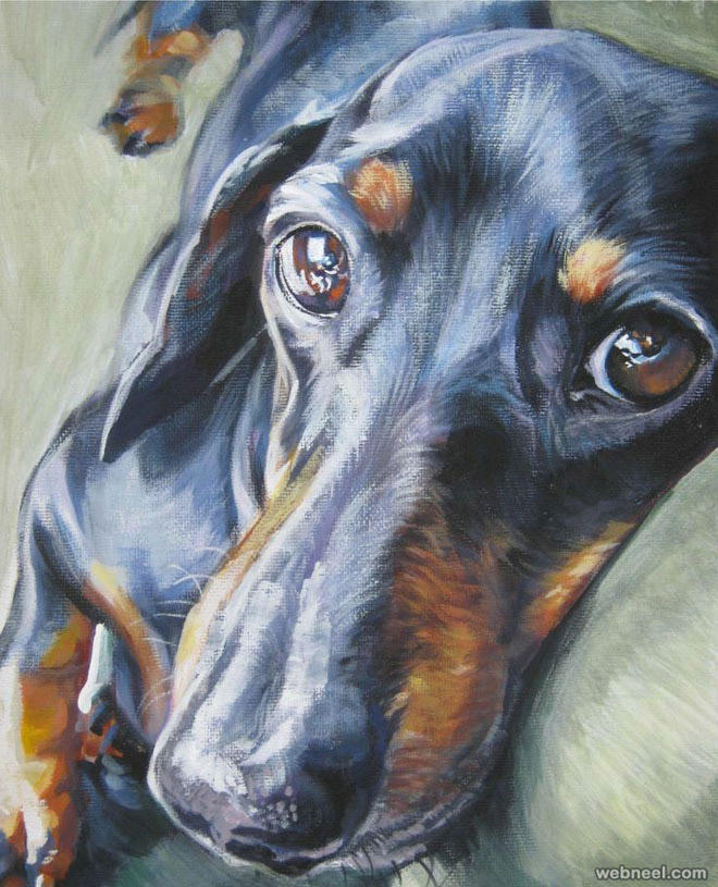 35 beautiful dog paintings and from top artists around the for Painting of your dog