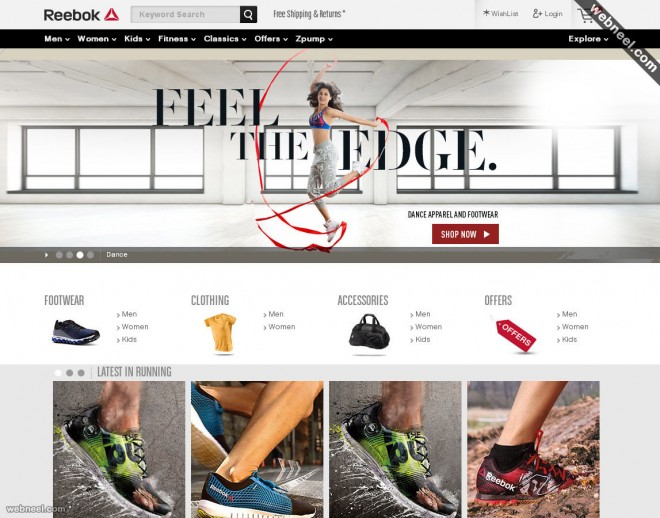 e commerce website reebok