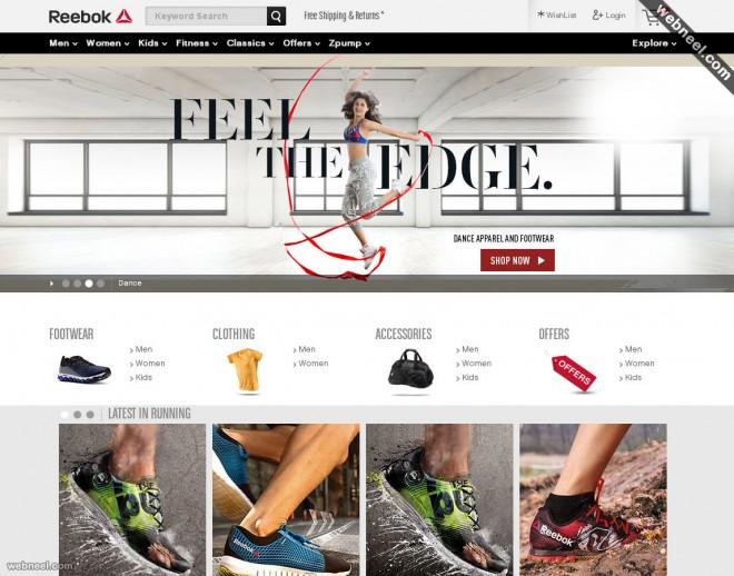 e commerce website reebok