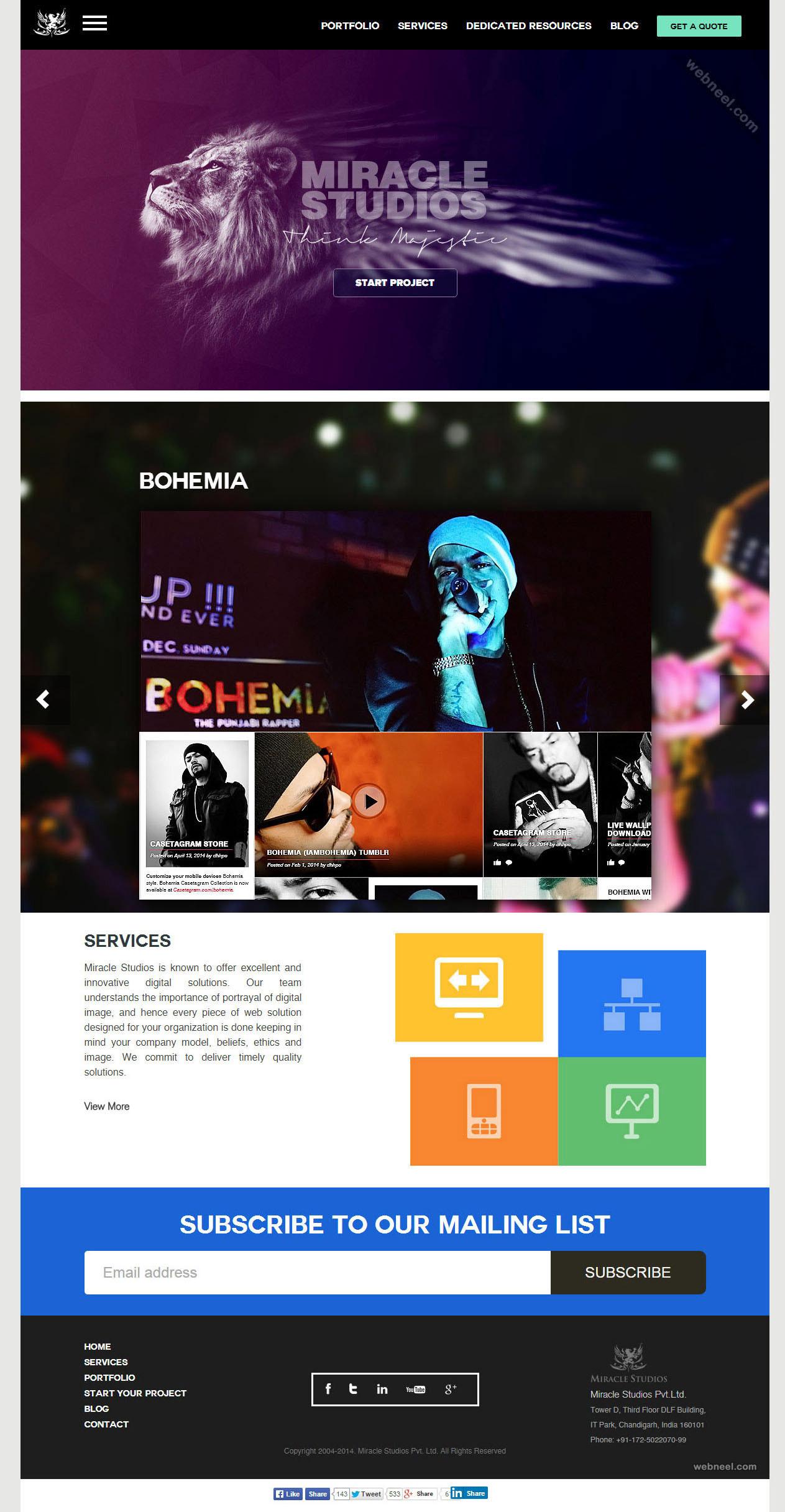 top design company miraclestudio chandigarh