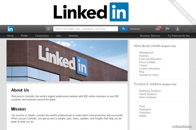 most popular website linkedin