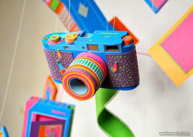 paper sculpture camera