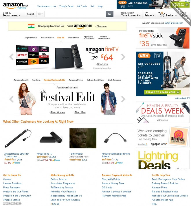 ecommerce website design amazon
