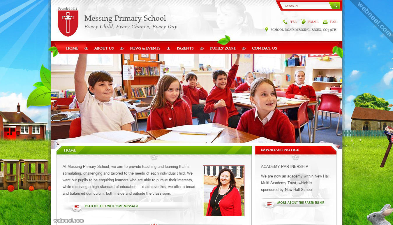 School website messing uk 11 Website home image
