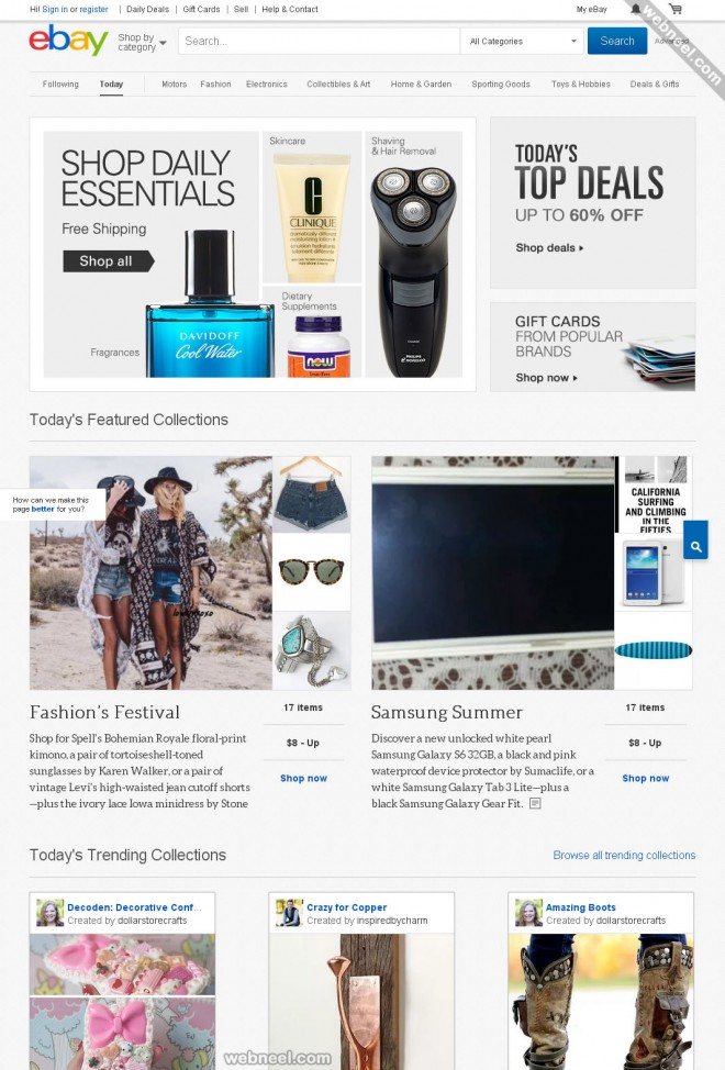 ecommerce website design ebay