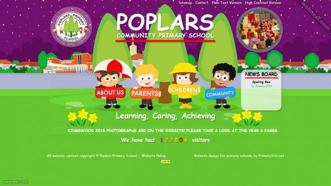 school website poplars