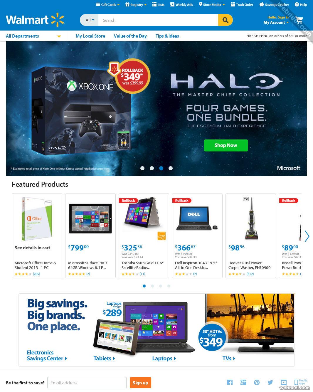 ecommerce website design walmart