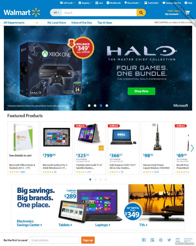 ecommerce website design walmart