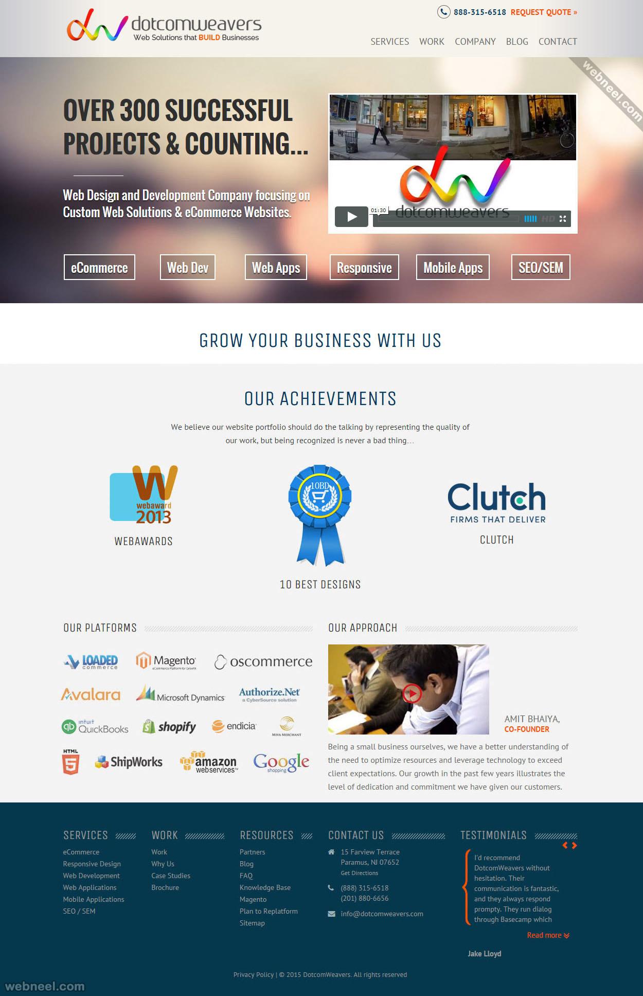 top design company dotcomweavers portland