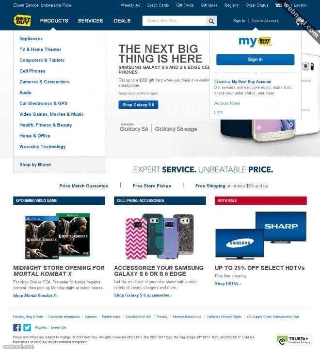 ecommerce website design bestbuy