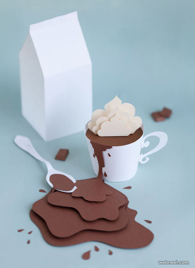 paper sculpture coffee
