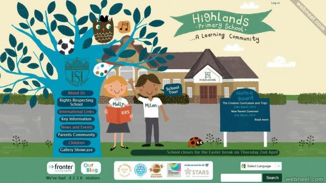 school website highlands