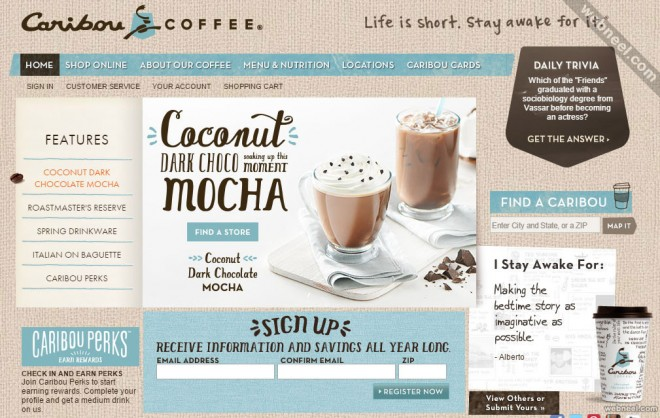 e commerce website cariboucoffee