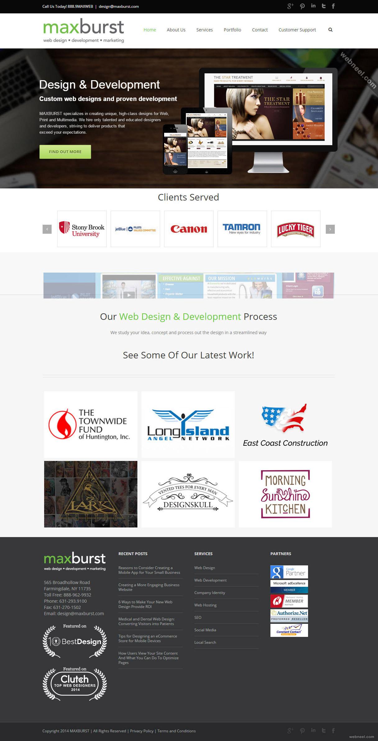 top design company maxburst longisland